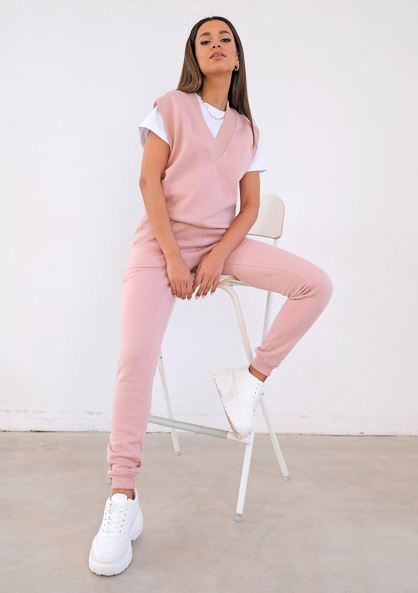 Powder pink cotton jerkin