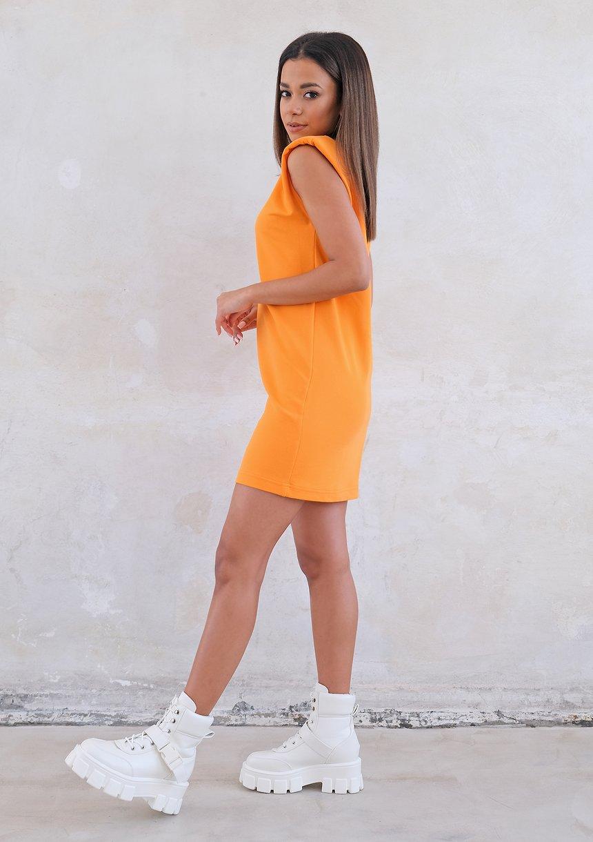 T-shirtowa sukienka z poduszkami Orange ILM