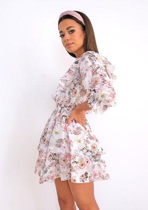 Sukienka z falbankami powder Flowers
