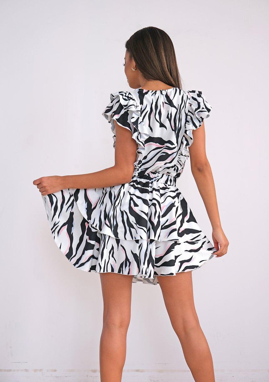 Sukienka z falbankami pastel Wild