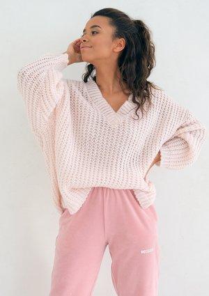 Oversize Powder Pink cardigan
