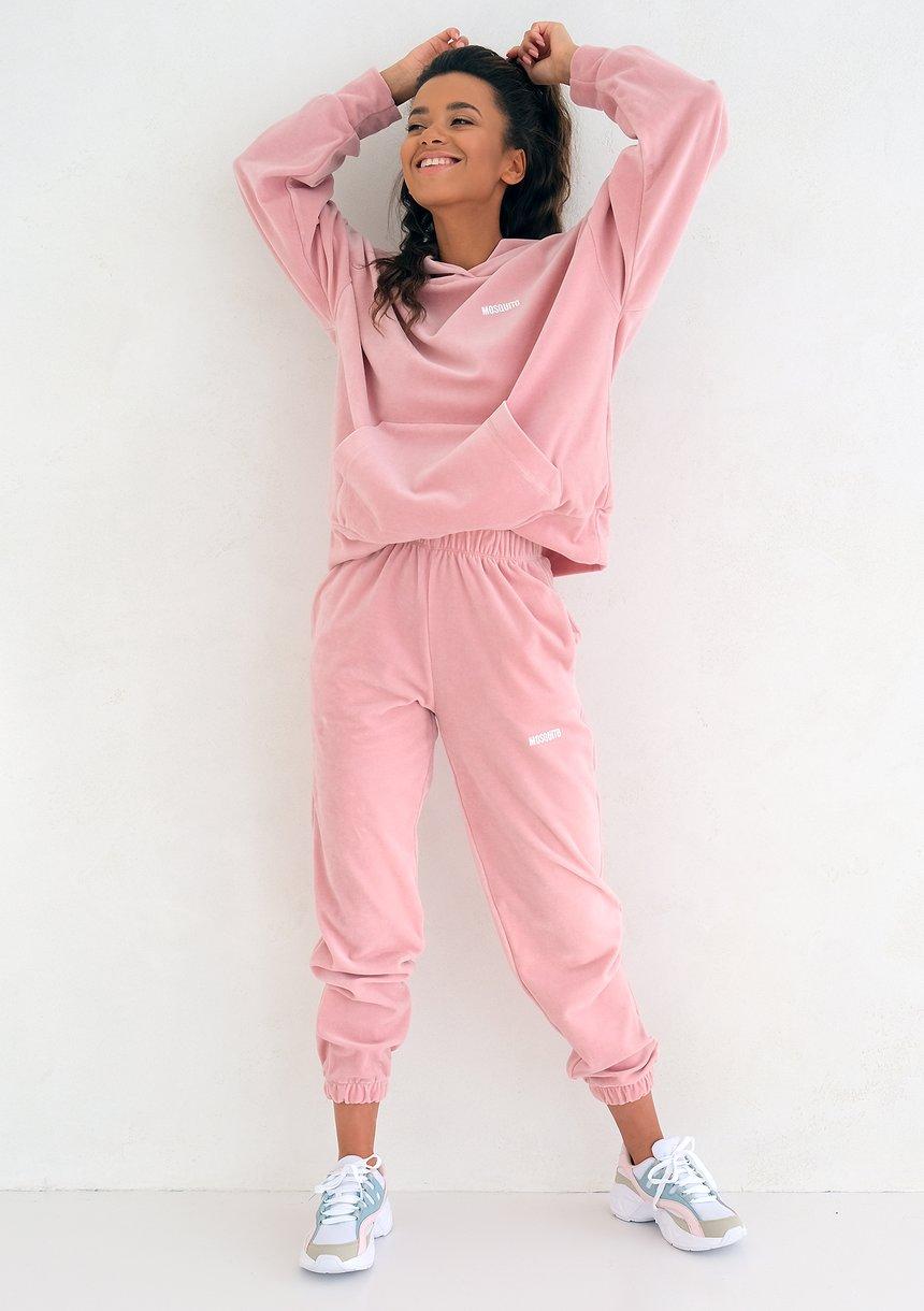 Mellow Rose velvet loose fit sweatpants