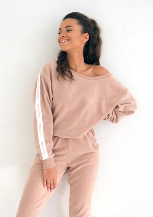 Loose Fit terry cloth sweatshirt beige
