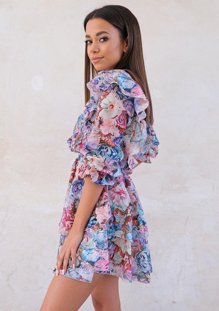 Sukienka z falbankami spring Garden