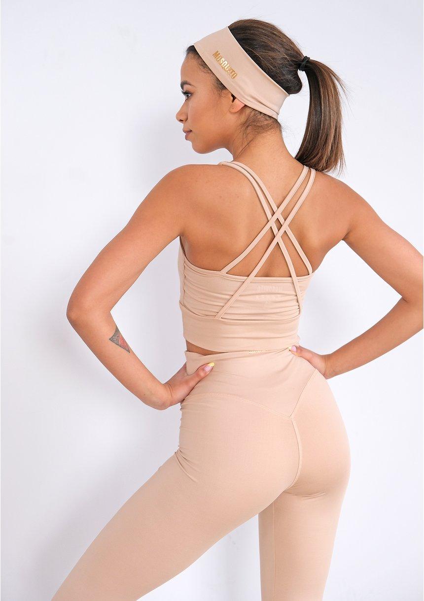 Strip Back Top Beige