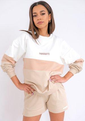 Nude color block sweatshirt ILM