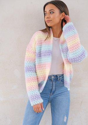 Short pastel colors cardigan