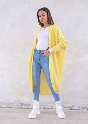 Long lightweight yellow cardigan