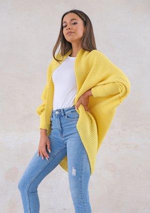 Classy cardigan OVERSIZE ILM A01 Yellow
