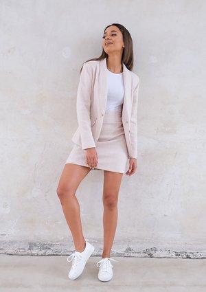 Fancy checker jacket Beige