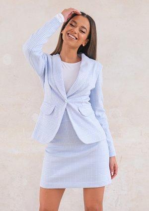 Fancy checker jacket Blue