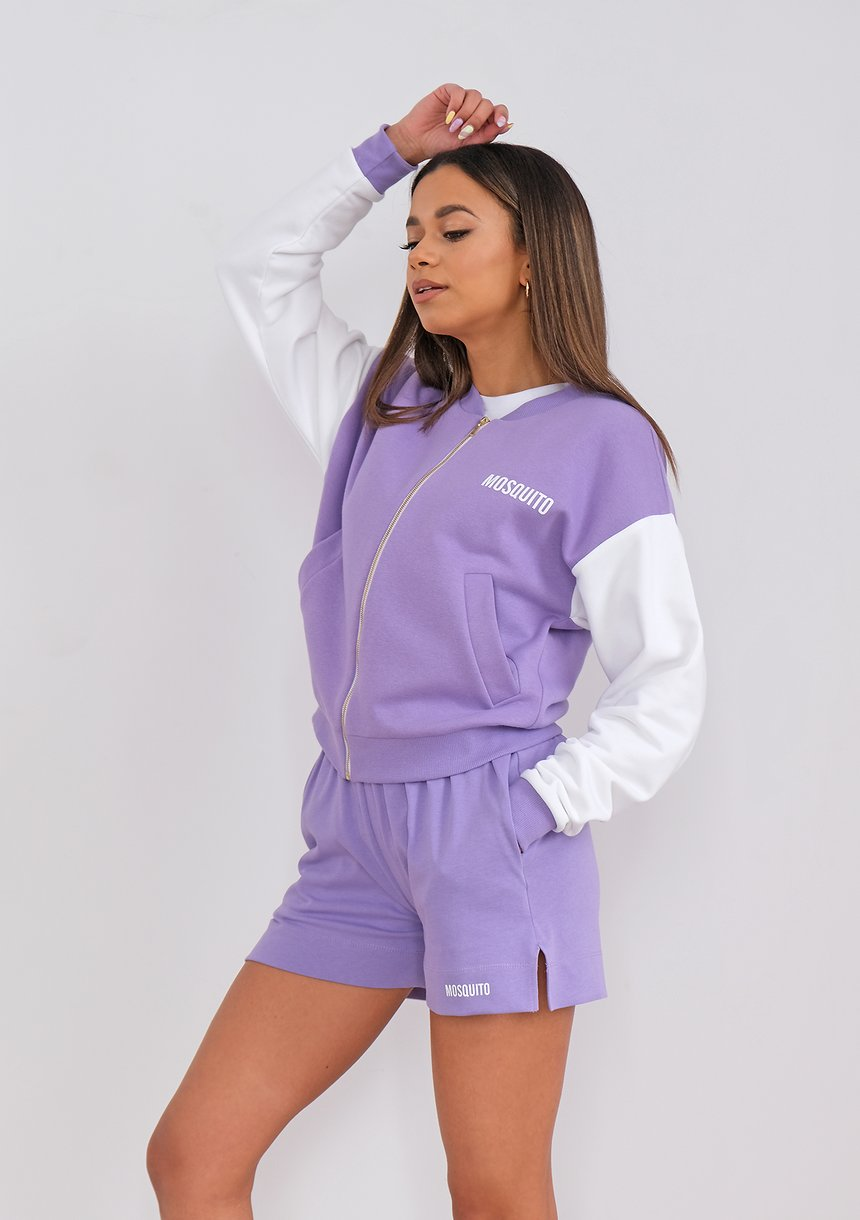 Bomber sweatshirt Grape Fruit