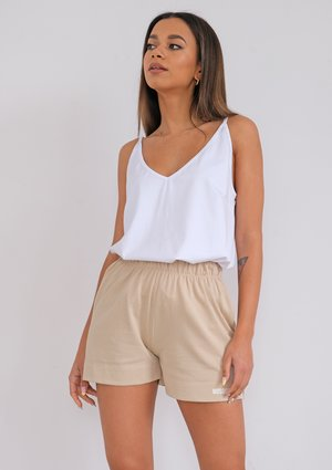 Strappy white cotton top