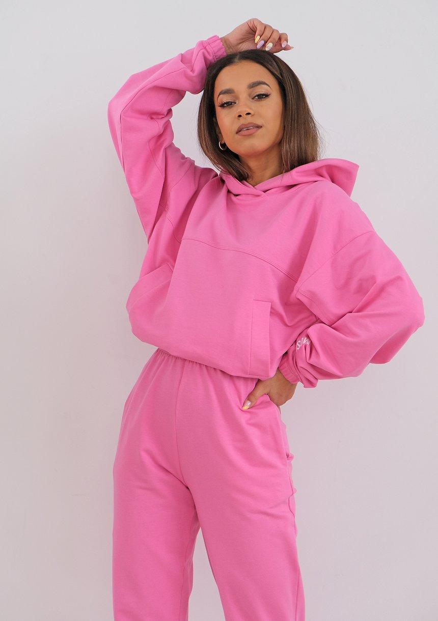 Bluza z kapturem Hot Pink