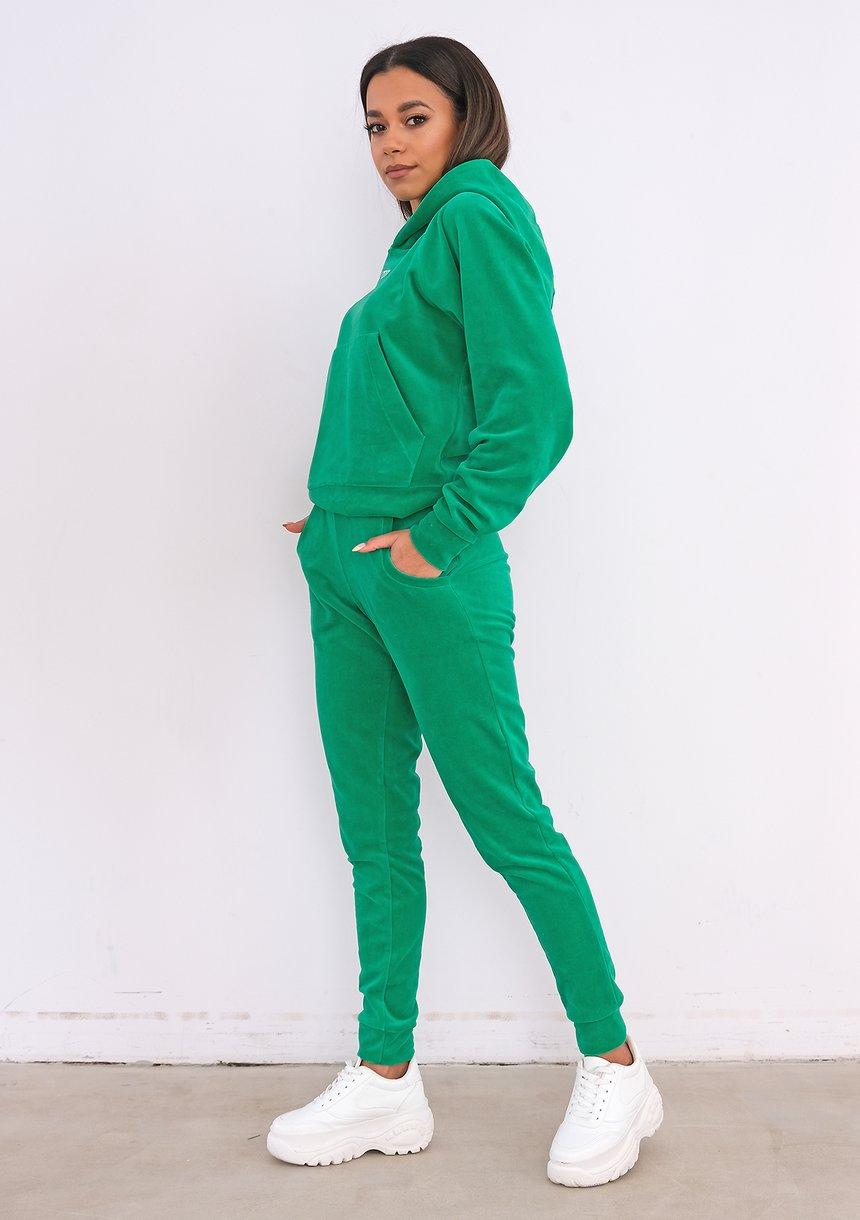 Welurowe spodnie Vivid Green