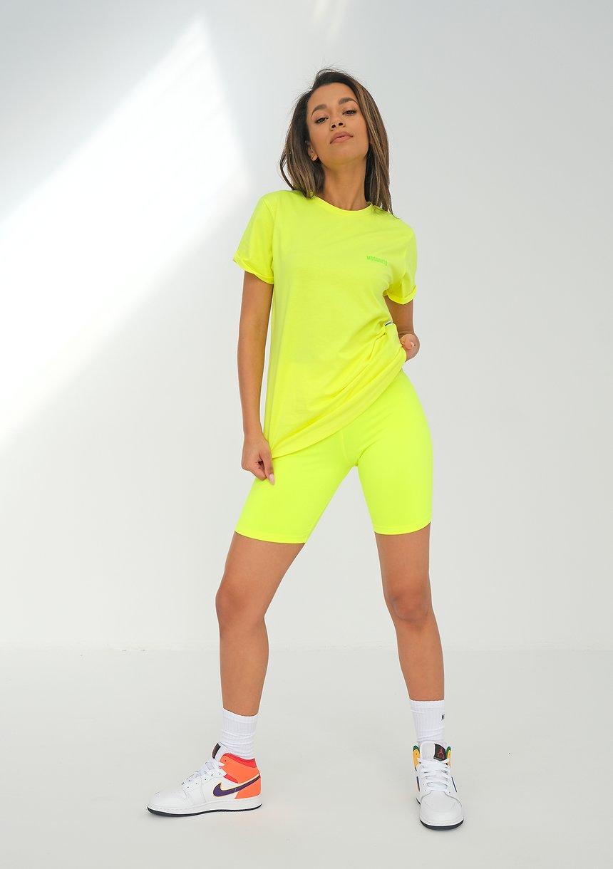 Legginsy Biker Neon Lime ILM