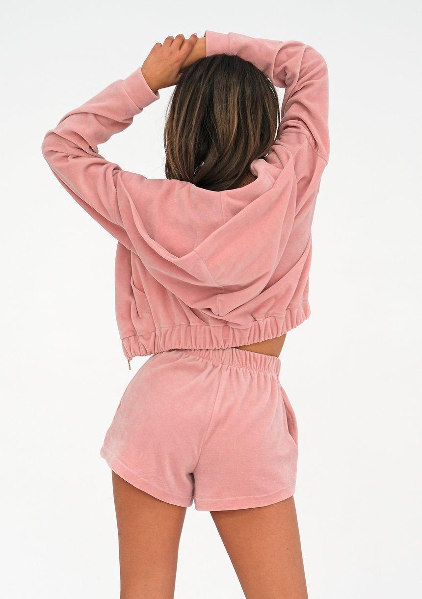 Velvet Shorts Mellow Rose