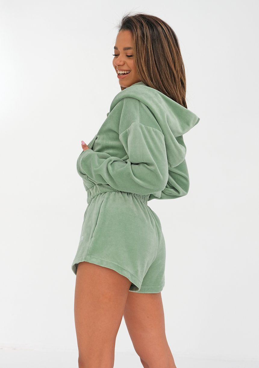 Velvet Shorts Smoke Mint