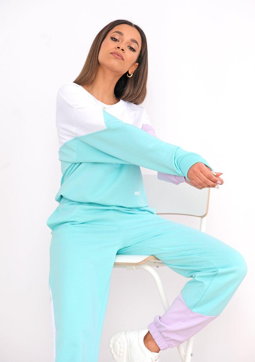 Bluza dresowa Pastel Mint ILM