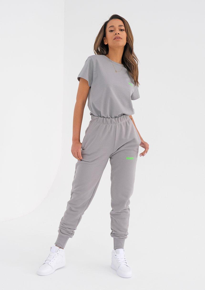 Szare spodnie dresowe Lime Logo ILM