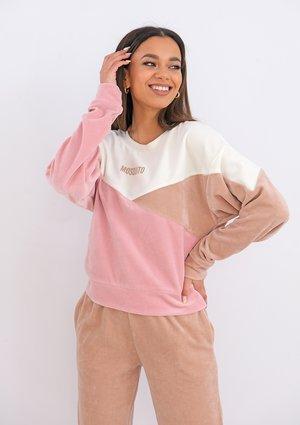 Velvet sweatshirt Marshmallow