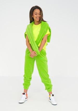 Velvet sweatpants Neon Lime