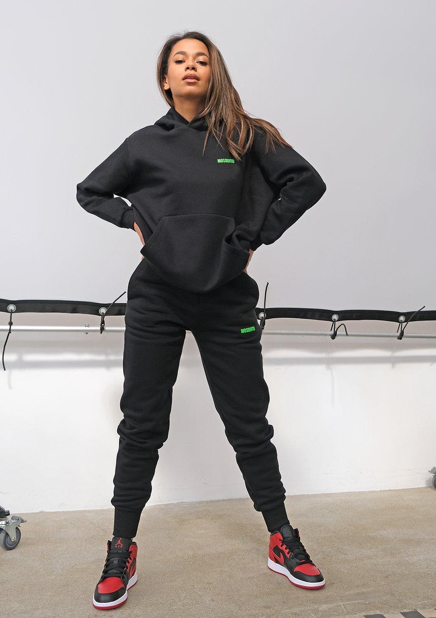 Czarne spodnie dresowe Lime Logo ILM