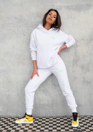 Białe spodnie dresowe Lime Logo ILM