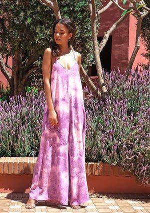 Tie dyed lavender jumpsuit