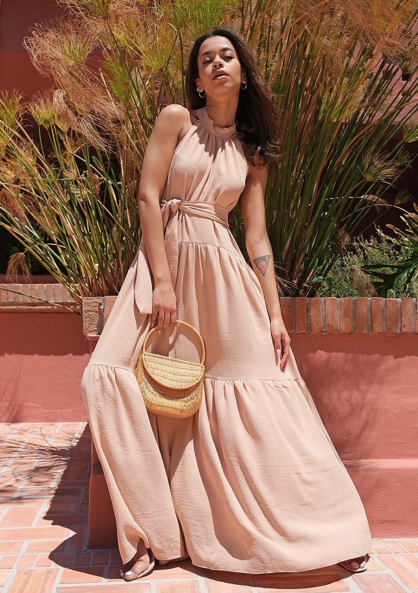 Letnia sukienka maxi Sunny Beige