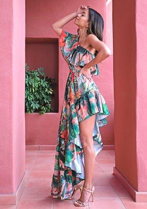 Maxi dress Flower Ruffles