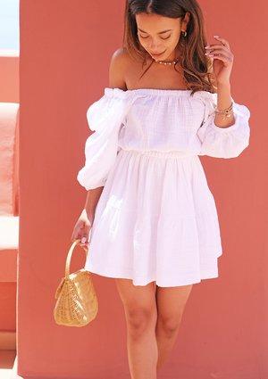 Mini muslin white dress
