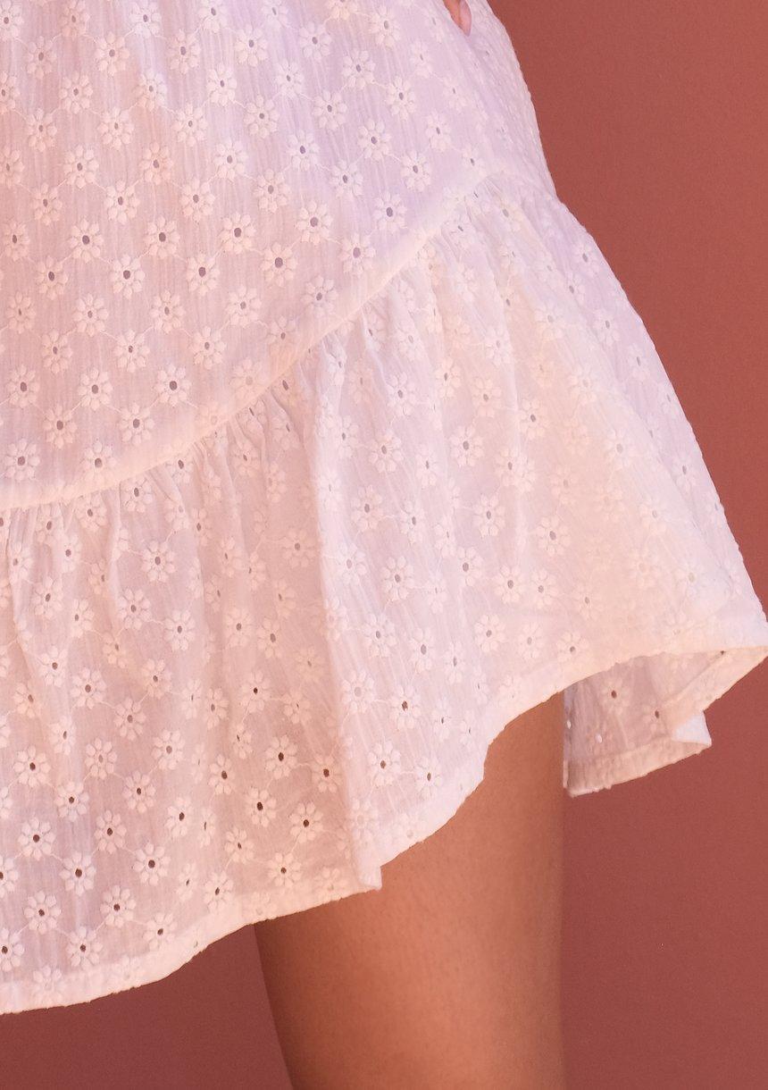 Sukienka boho z bufkami Biała