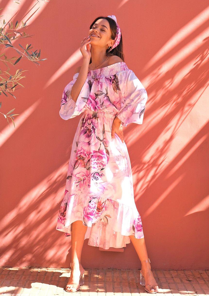 Sukienka midi Peony Bloom