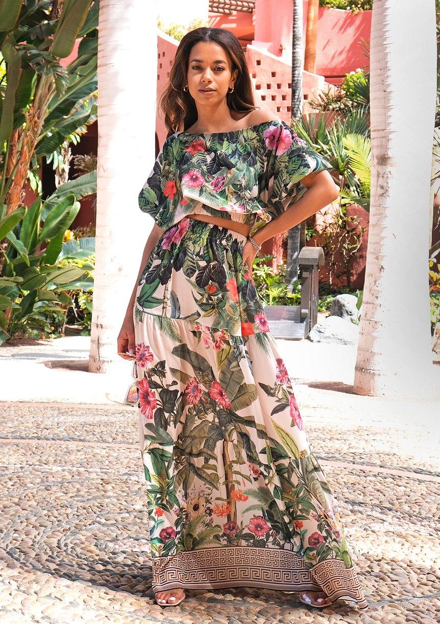 Spódnica maxi Tenerife Garden