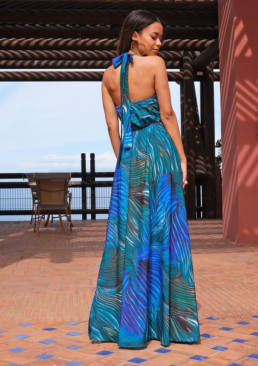 Maxi dress Blue Waves