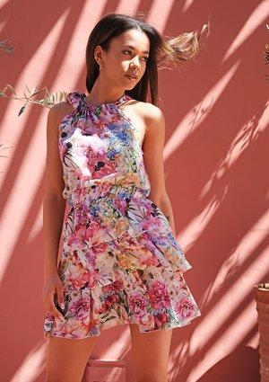 Mini summer dress Flowery Meadow