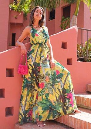 Sukienka maxi Exotic Yellow