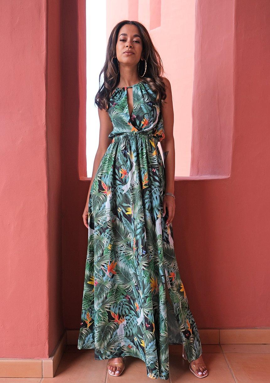 Letnia sukienka maxi Parrots