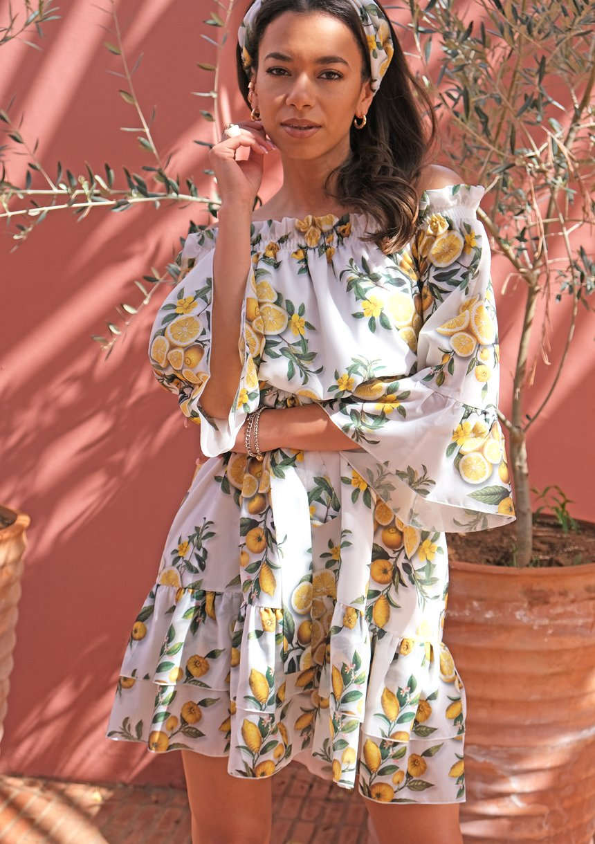 Sukienka z odkrytymi ramionami Lemons