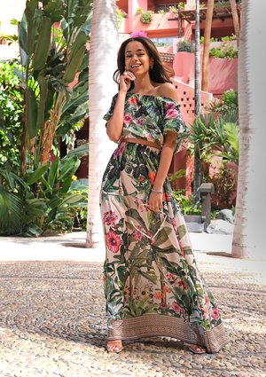Maxi skirt Tenerife Garden
