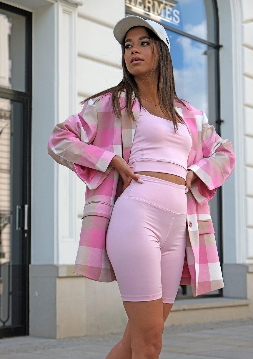Legginsy Biker Pastel Pink ILM