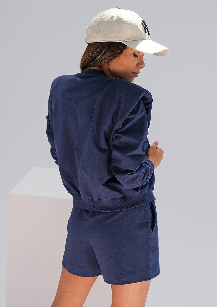 Rozpinana bluza z poduszkami Navy ILM
