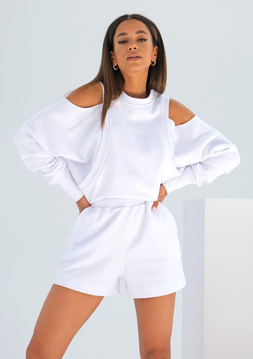 Bluza z odkrytymi ramionami Biała ILM