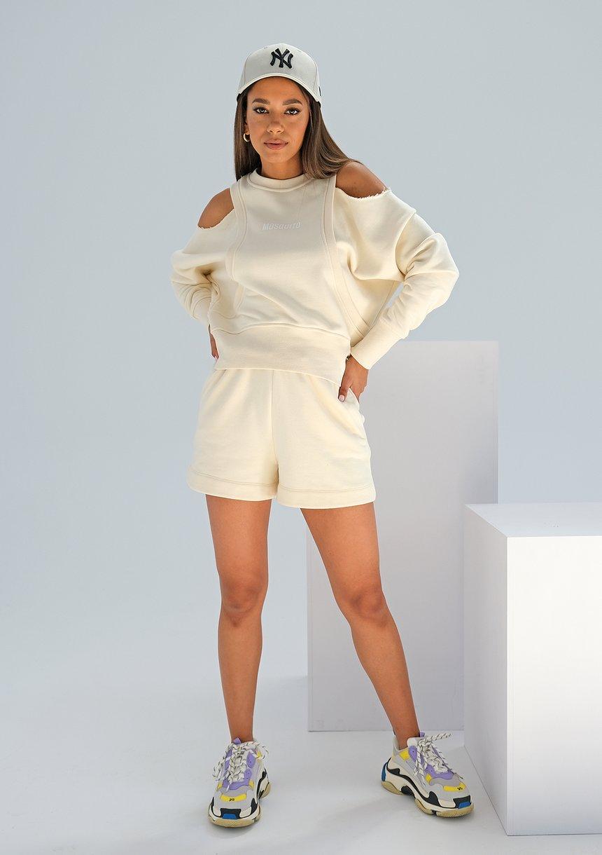 Bluza z odkrytymi ramionami Swish Vanilla ILM