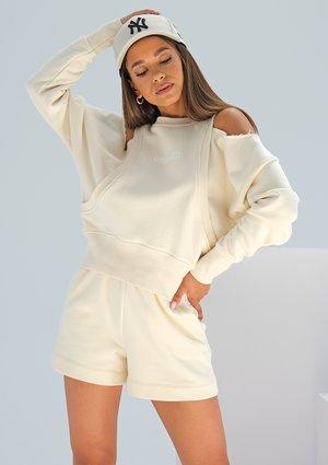 Sweatshirt with open shoulders Swish Vanilla