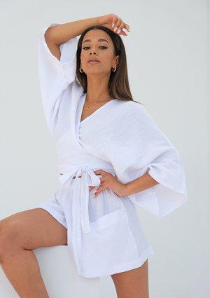 Muslin white kimono top