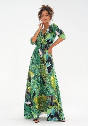 Maxi dress with a wrap neckline Bananas
