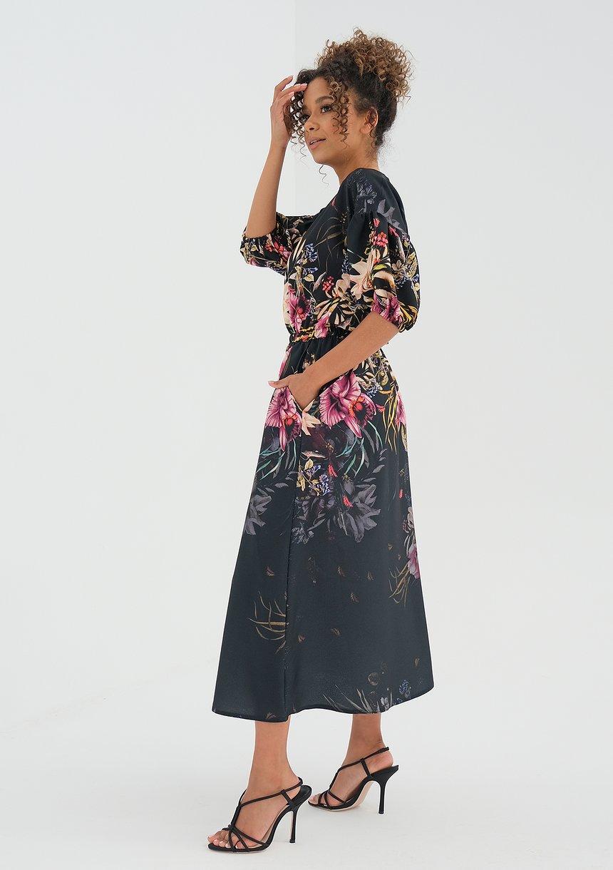 Sukienka midi Black Peony