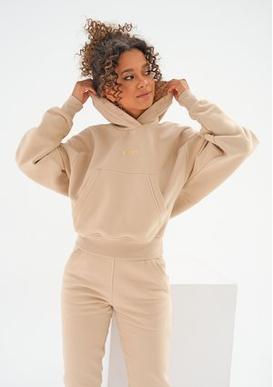 Hoodie with a pocket Sand Beige